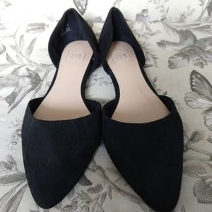 GAP | Black Suede Pointed Toe Slip on Flats